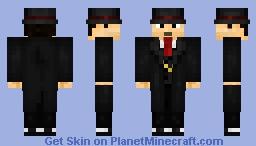 Mafioso [Black and Red] Minecraft Skin