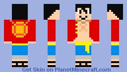 luffy Minecraft Skin