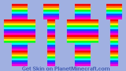 Totally rainbow Minecraft Skin