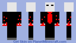 Bloody slender man Minecraft Skin