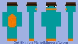Agent P Minecraft Skin