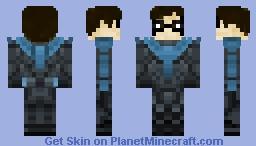Nightwing (Titans) Minecraft Skin