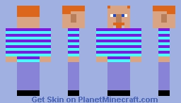 Purple/Light Blue Stripe Shirt Minecraft Skin