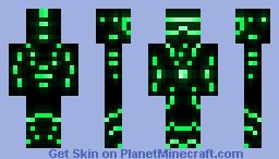 Malachite glow skin Minecraft Skin