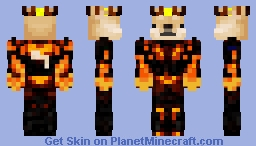 Doge The Nether King Minecraft Skin