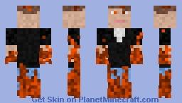 Molten Man Minecraft Skin