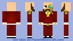 Red Suit Rich Man Minecraft Skin