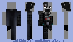 Darth Vader (Damaged, Prequel) Minecraft Skin