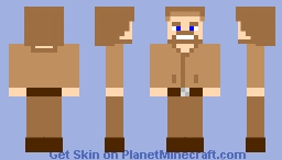 Obi-wan Kenobi (Late Adulthood, Prequel) Minecraft Skin