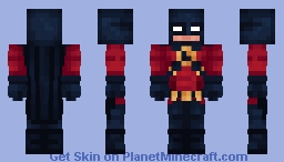 Red Robin | DC | Tim Drake Minecraft Skin