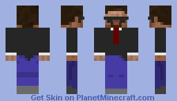 AGENT STEVE FROM OMA (official minecraft agent) Minecraft Skin