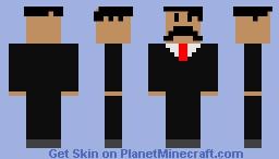 Moustache business man Minecraft Skin
