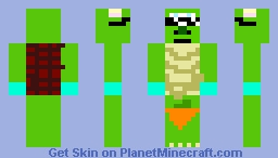 """""""Dope"""" Sully + Mike Turtle with corona gloves with carrot on legs Minecraft Skin"""