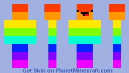 rainbow skeppy simple Minecraft Skin