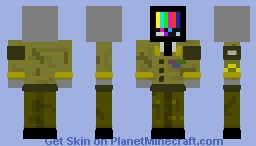 TV Head (Army Officer w/ MUC, Purple Heart, EAEM, and Good Commemoration medals) Minecraft Skin