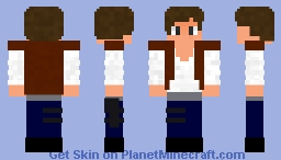 han solo from star wars Minecraft Skin