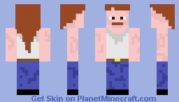 Sweaty Trucker that has a Mustache and Mullet Minecraft Skin