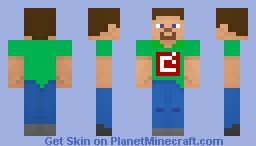 Green Developer Steve Minecraft Skin