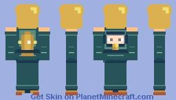 Scuba Diver Holding Golden Vase (Contest) Minecraft Skin