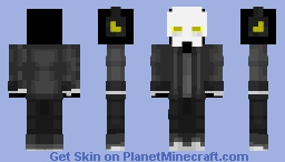 Yellow Skeleton Casual Minecraft Skin