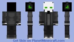 Green Skeleton Casual Minecraft Skin