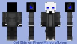 Blue Skeleton Casual Minecraft Skin