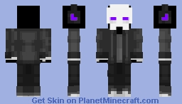 Purple Skeleton Casual Minecraft Skin
