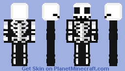 Black And White Formal: Spooky Scary Jack Skellington Minecraft Skin
