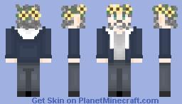 Zoom Call Michael Sheen w/ Flower Crown Minecraft Skin