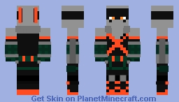 Bakugou Katsuki hero suit Minecraft Skin