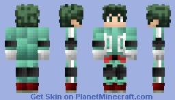 Deku on my hero academia Minecraft Skin