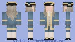 Governor in Blue Minecraft Skin