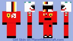 F1 2020 Sebastian Vettel Minecraft Skin