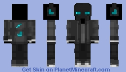 Soul Fire Skeleton Minecraft Skin