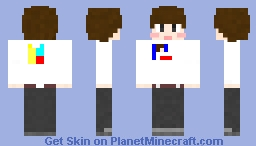 DDOTTY with his T-shirt Minecraft Skin