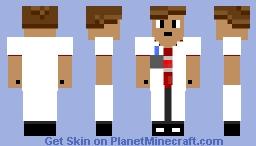 Red Boy Scientist Minecraft Skin
