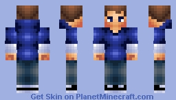 Blue TimeDe... i mean boy, becuz why not! (3 Gen) without glasses version Minecraft Skin