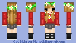 Grian as a Girl Reskin (with Hippie flowers) Minecraft Skin