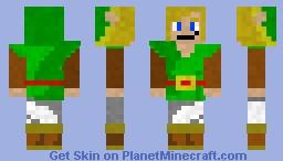 The Legend of Zelda: Oracle of Ages/Oracle of Seasons Link Minecraft Skin