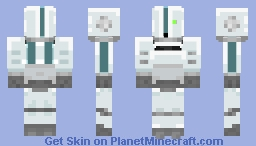 Nintendo Wii, but as a Humanoid Robot Minecraft Skin
