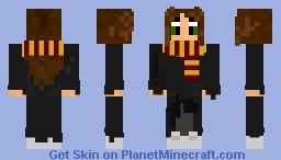 Girl Gryffindor Hogwarts Student Minecraft Skin