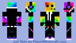 Rainbow Slime Boy Minecraft Skin