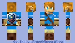 Link (breath of the wild) Minecraft Skin