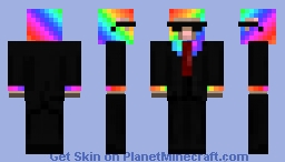 Rainbow Party Sheep(Party Animal) Minecraft Skin