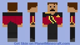 starfleet admiral tng Minecraft Skin