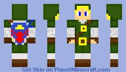 The Legend of Zelda: Twilight Princess Link Minecraft Skin
