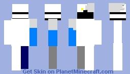 if you take off jacket leg and the white arm u get robotish dude Minecraft Skin