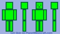 green skin Minecraft Skin