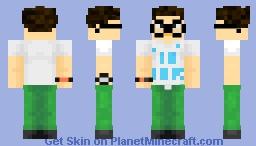 A nerd Minecraft Skin