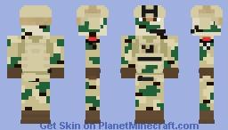 British Royal Marine Operative Minecraft Skin